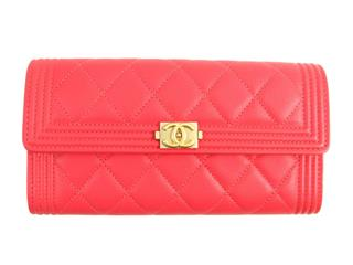 CHANEL 〈シャネル〉 Boy Chanel ZIP long wallet Bifold