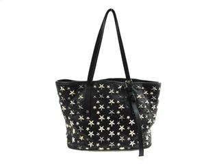 JIMMY CHOO 〈ジミーチュウ〉 Star studded Shoulder tote bag