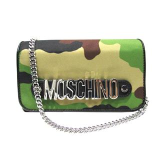 MOSCHINO〈モスキーノ〉Camouflage chain wallet shoulder bag