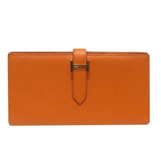 HERMES〈エルメス〉Bearn sofflet bi-fold wallet GHW