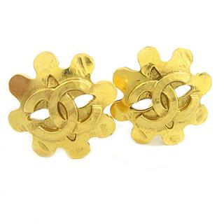 CHANEL〈シャネル〉Coco Mark Gold Earrings