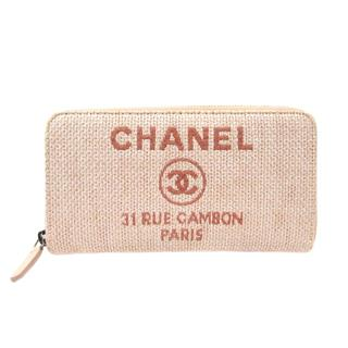 CHANEL 〈シャネル〉 Deauville Zip Around Wallet Purse