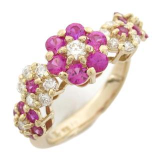 Ponte Vecchio〈ポンテヴェキオ〉Sapphire diamond flower ring