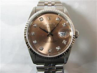 ROLEX 〈ロレックス〉 date just 10P diamond watch