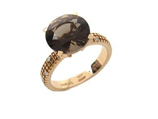 DAMIANI 〈ダミアーニ〉 Metropolitan Smokey Quartz Diamond Ring