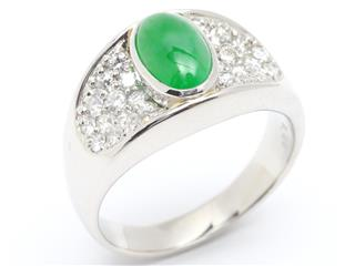 JEWELRY 〈ジュエリー〉 Jade diamond ring