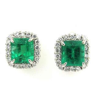 JEWELRY〈ジュエリー〉Emerald Diamond Earrings