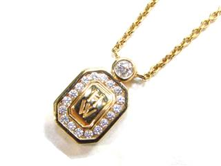 HARRY WINSTON 〈ハリーウィンストン〉 Logo Diamond Necklace