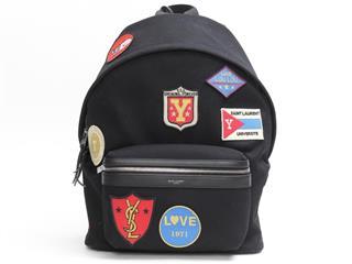 SAINT LAURENT〈サン・ローラン〉City patch bag pack rucksack