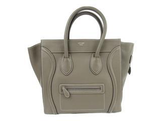 CELINE〈セリーヌ〉Luggage mini shopper hand tote bag