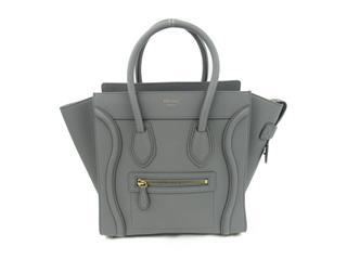 CELINE〈セリーヌ〉Luggage Micro Shopper Tote hand Bag