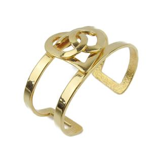 CHANEL 〈シャネル〉 Vintage Heart Coco Mark Bangle Bracelet 95P
