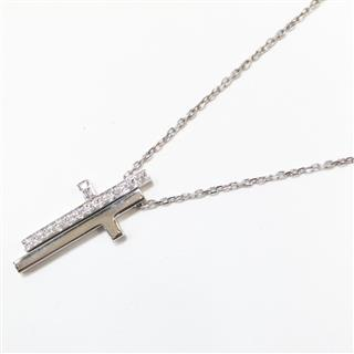 GUCCI 〈グッチ〉 Separate cross diamond necklace pendant