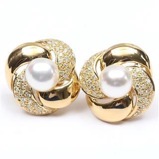 JEWELRY〈ジュエリー〉Pearl Diamond Earrings