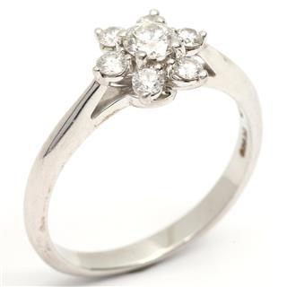 TIFFANY&CO〈ティファニー〉Flower motif diamond ring