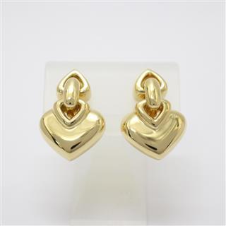 BVLGARI〈ブルガリ〉Doppioquare Heart Earrings