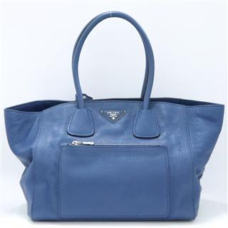PRADA 〈プラダ〉 Vitello Phoenix 2way Shoulder Bag Shopping Tote