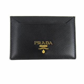 PRADA 〈プラダ〉 Saffiano card case holder logo