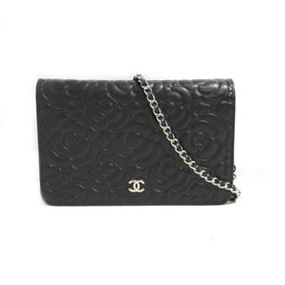 CHANEL 〈シャネル〉 Camelia Chain Wallet Crossbody Shoulder Bag