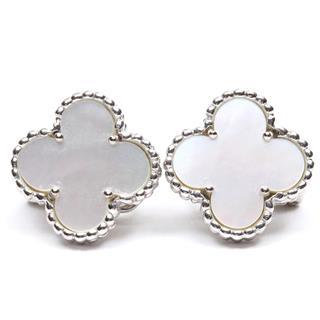 Van Cleef & Arpels〈ヴァンクリーフ&アーペル〉Alhambra shell mother-of-pearl earrings