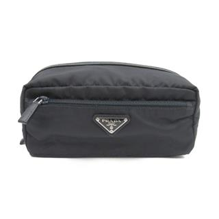 PRADA 〈プラダ〉 Dark blue pouch zipped