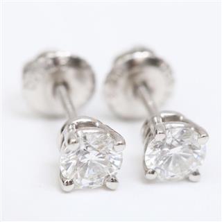 TIFFANY&CO〈ティファニー〉Diamond pierced earrings