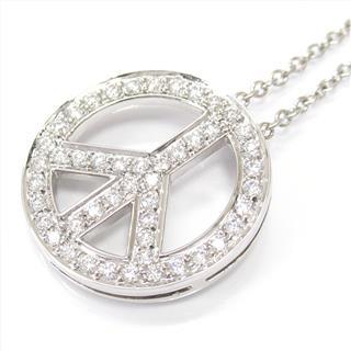 TIFFANY&CO〈ティファニー〉Peace sign necklace