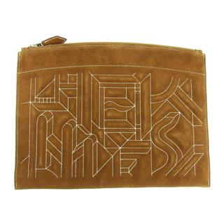 HERMES〈エルメス〉Suede clutch bag second pouch