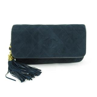 CHANEL 〈シャネル〉 Coco Mark makeup Pouch tassel clutch