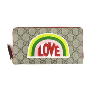 GUCCI 〈グッチ〉 GG Supreme around long wallet purse love