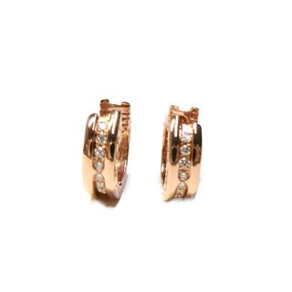 BVLGARI 〈ブルガリ〉 B-zero1 small hoop diamond earrings