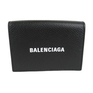 BALENCIAGA 〈バレンシアガ〉 CASH MINI Wallet Purse BLACK WHITE