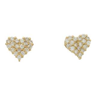 JEWELRY〈ジュエリー〉Heart diamond earrings
