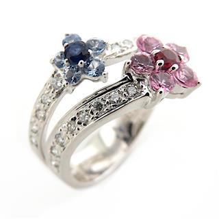 JEWELRY〈ジュエリー〉Ruby sapphire diamond ring ring