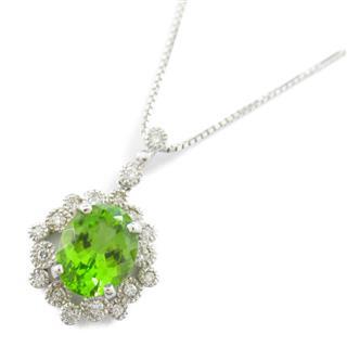 JEWELRY〈ジュエリー〉Peridot diamond necklace pendant