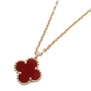 Van Cleef & Arpels〈ヴァンクリーフ&アーペル〉Sweet Alhambra Carnelian Necklace