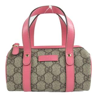 GUCCI 〈グッチ〉 GG Supreme Mini Boston Handbag