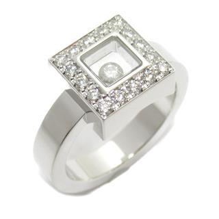 Chopard〈ショパール〉Happy Diamonds Square 1P Diamond Ring Ring