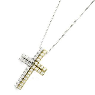TASAKI 〈タサキ〉 Diamond necklace cross pendant collier