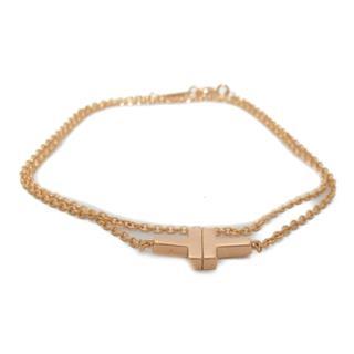 TIFFANY&CO〈ティファニー〉T TWO double chain bracelet