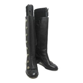 CHANEL〈シャネル〉boots long shoes #37C heels
