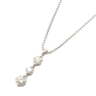 MIKIMOTO〈ミキモト〉Three stone diamond necklace