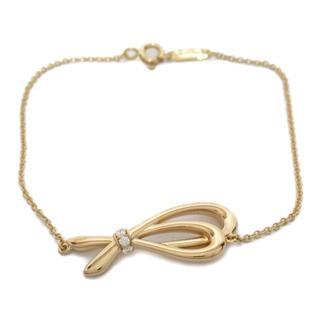 TIFFANY&CO〈ティファニー〉Bow ribbon diamond chain bracelet
