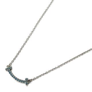 TIFFANY&CO〈ティファニー〉T Smile Micro Blue Topaz Necklace pendant collier