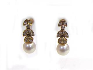 Ponte Vecchio 〈ポンテヴェキオ〉 Jewelry Pearl Earrings