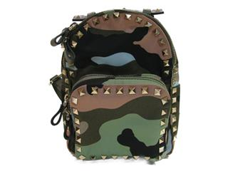 VALENTINO〈ヴァレンチノ〉CAMO PRINTED Studds PACK-AWAY BACKPACK bag