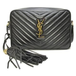 SAINT LAURENT 〈サン・ローラン〉 Lou YSL Fringe shoulder crossbody bag