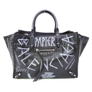 BALENCIAGA〈バレンシアガ〉Paper A6 Zip Around Graffiti Hand shoulder Bag