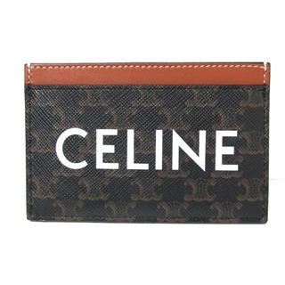 CELINE〈セリーヌ〉logo print card case holder