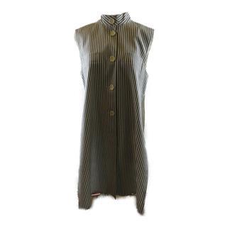 Max Mara〈マックスマーラ〉Long gilet stripe vest